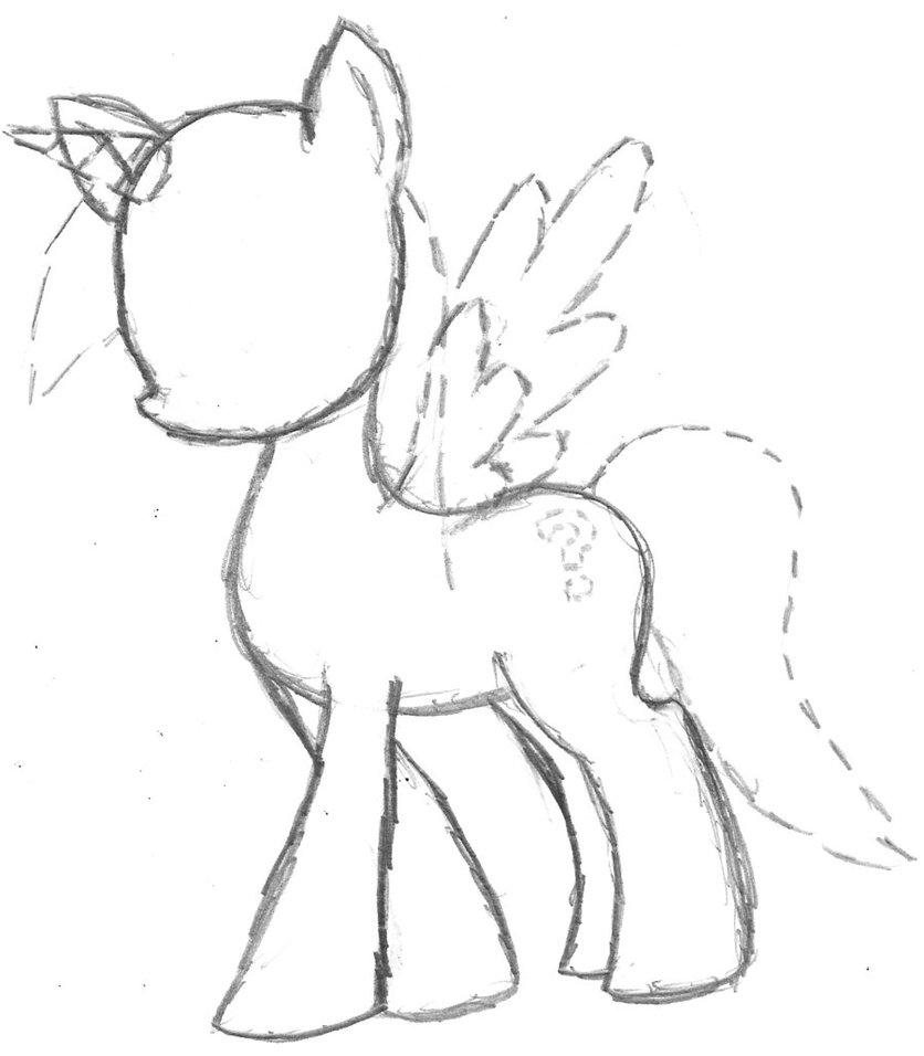 836x956 Mlp Base Drawing Mlp Drawing Base Pegasus