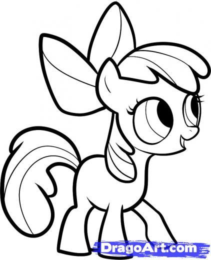 422x520 My Little Pony Apple Bloom Drawings My Little Pony Diamond Tiara
