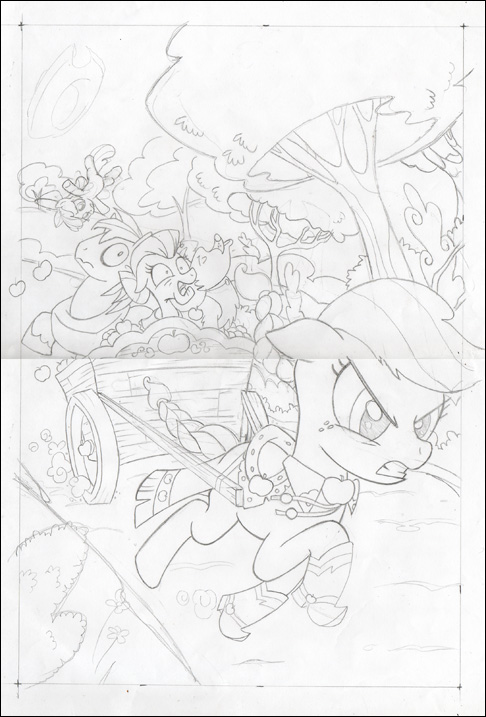 486x717 My Little Pony Comic Book Art By Bill Forster