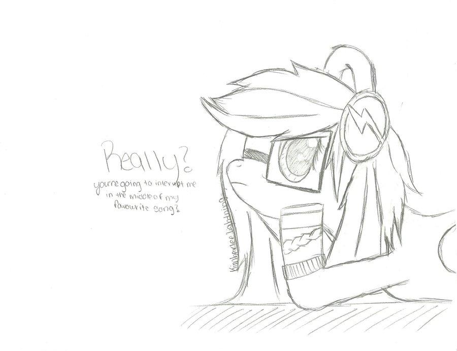 900x691 My Little Pony Oc. Pencil Sketch. By Kimberleelightning