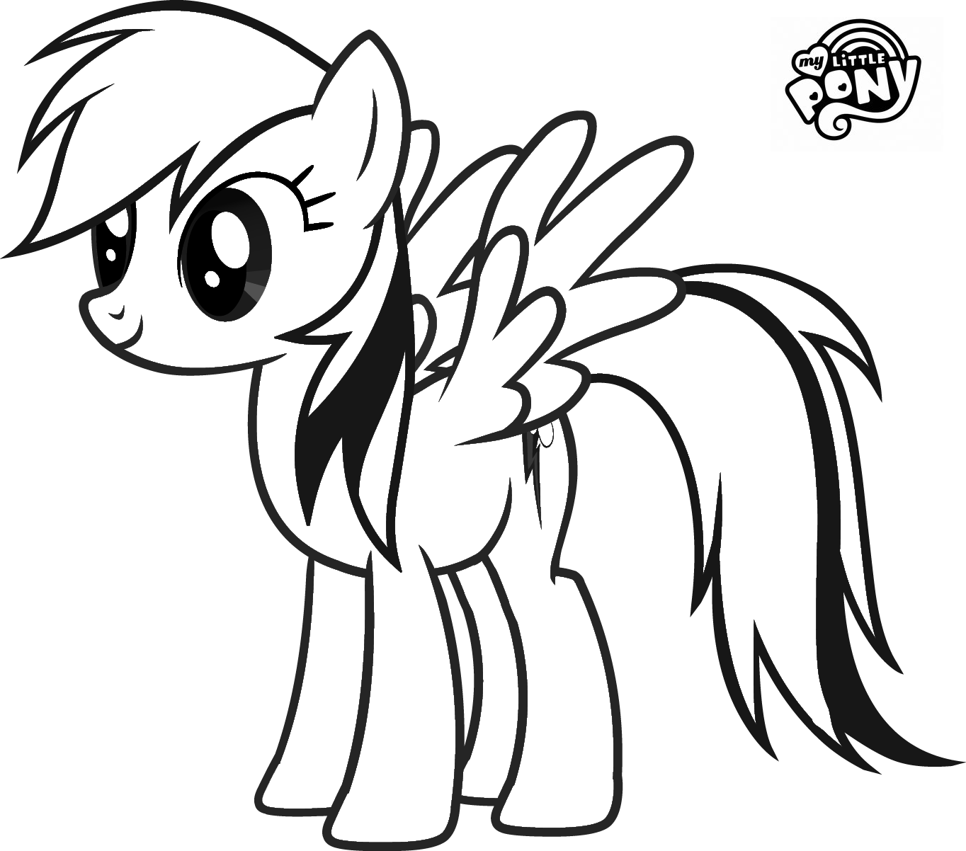 1364x1202 My Little Pony Rainbow Dash Coloring Pages