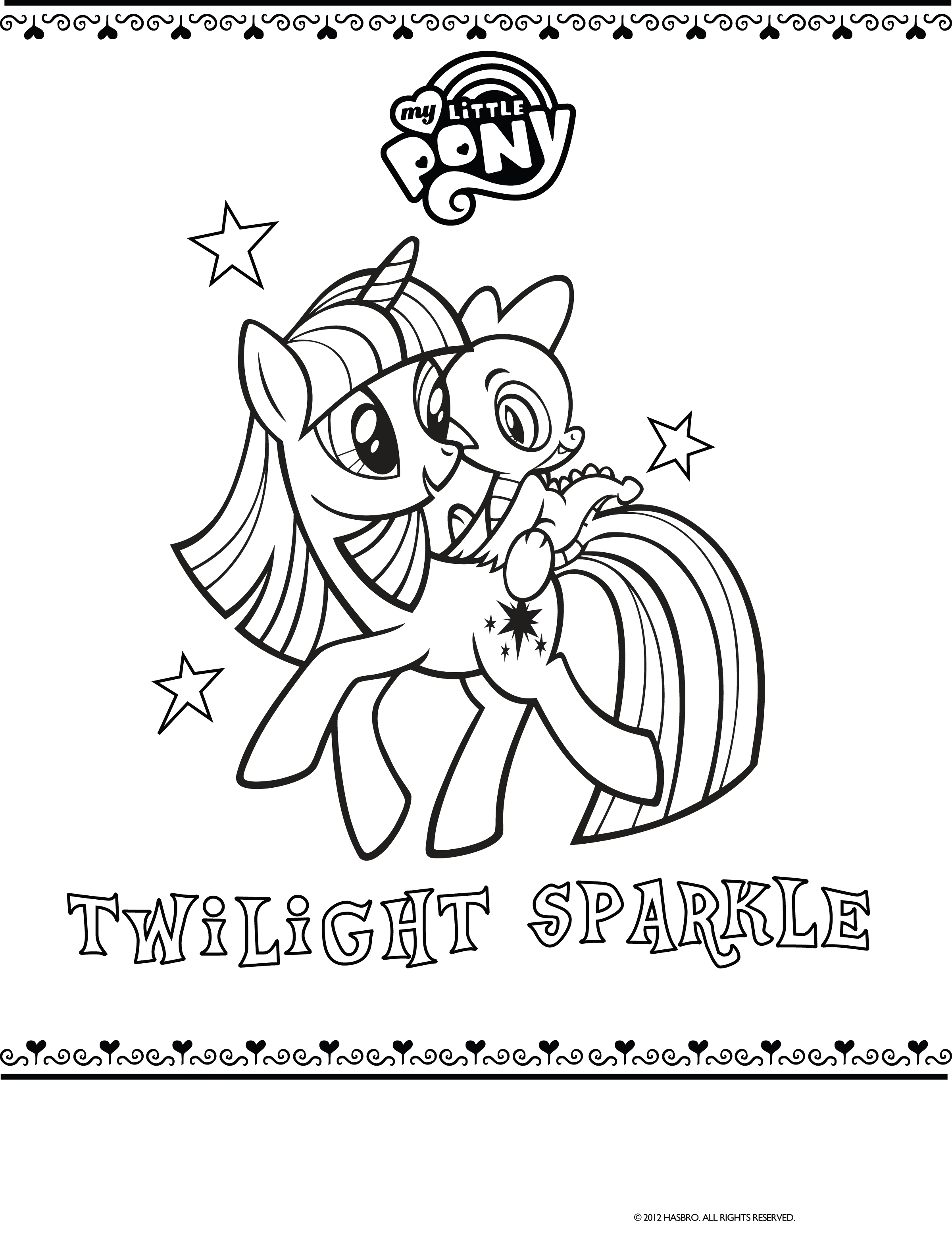 Ausmalbilder My Little Pony Applejack : My Little Pony Twilight Sparkle Drawing At Getdrawings Com Free
