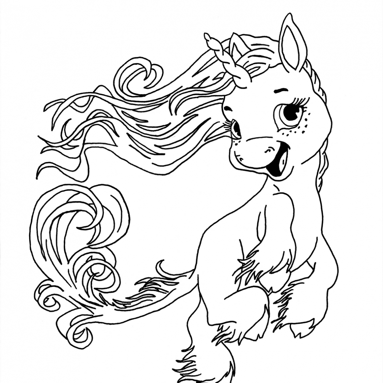 My Little Pony Unicorn Drawing at GetDrawings | Free download