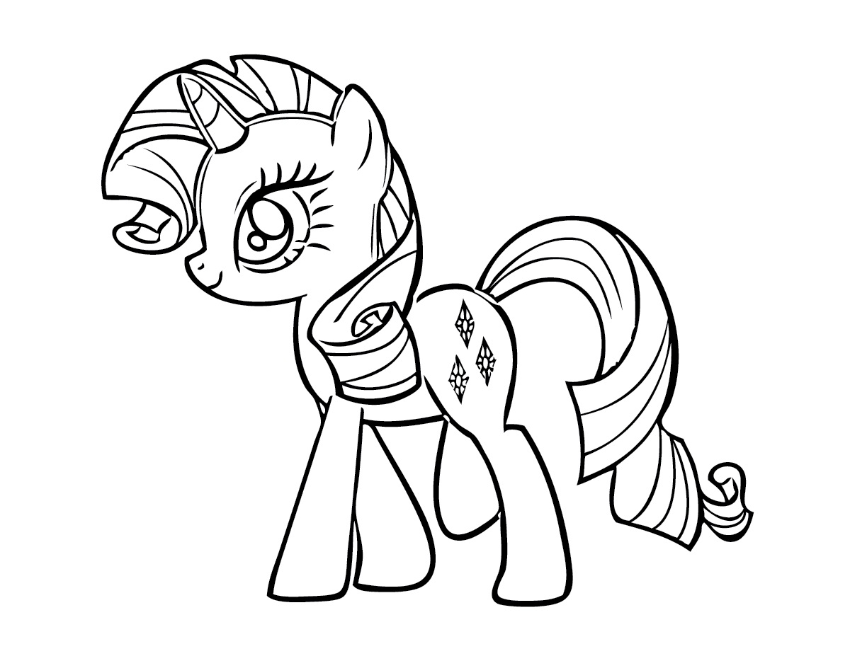 1200x927 my little pony unicorn coloring pages