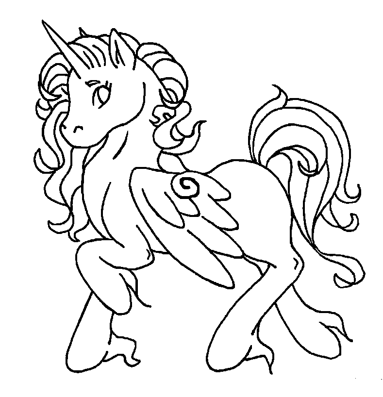 my little pony unicorn drawing at getdrawings com free for