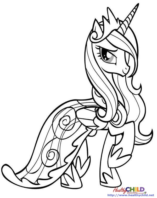 unicorn coloring pages coloring page for kids 600x758 princess cadence mlp