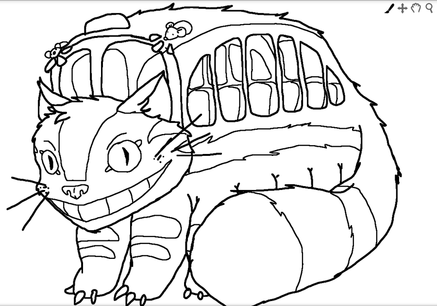 My neighbor totoro drawing at free for for My neighbor totoro coloring pages