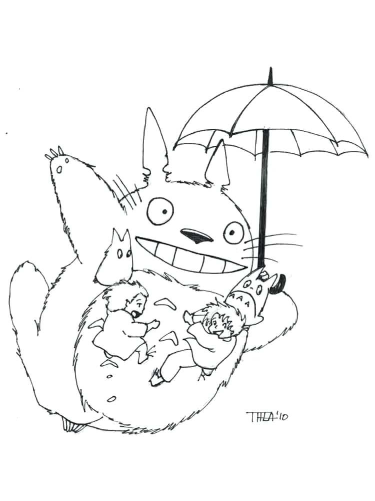 My Neighbor Totoro Drawing at GetDrawings | Free download