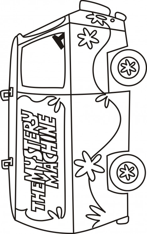 470x747 Mystery Machine Coloring Sheets Mystery Machine Coloring Pages