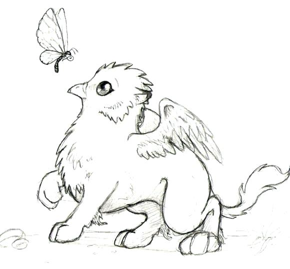 Mythical Creature Drawing at GetDrawings.com | Free for personal use ...