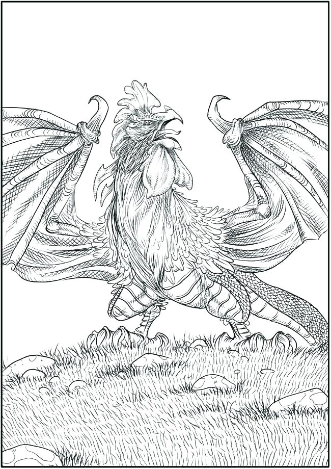 650x920 Mythical Creature Coloring Pages Elegant Mythical Creatures