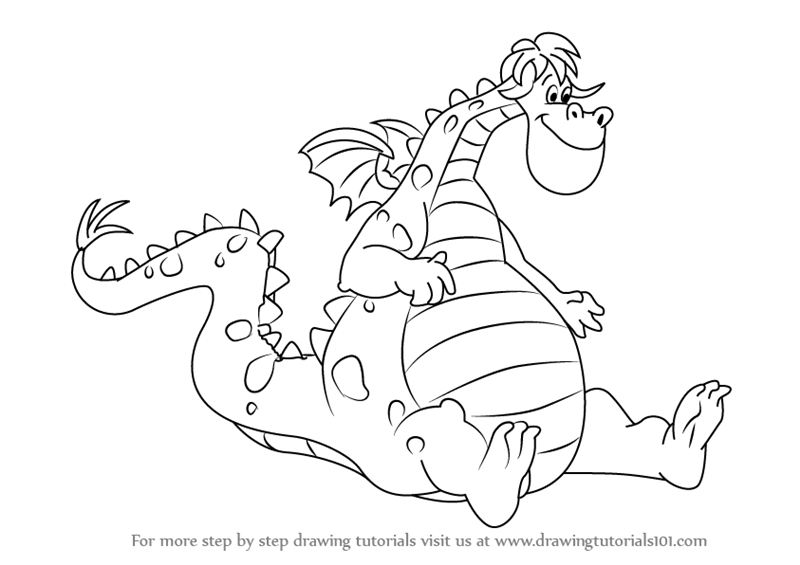 800x565 Learn How To Draw Elliott From Pete's Dragon (Pete's Dragon) Step