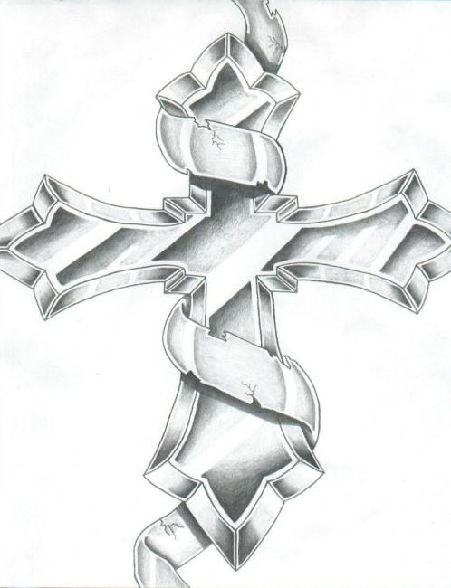 498x650 Cross Drawings