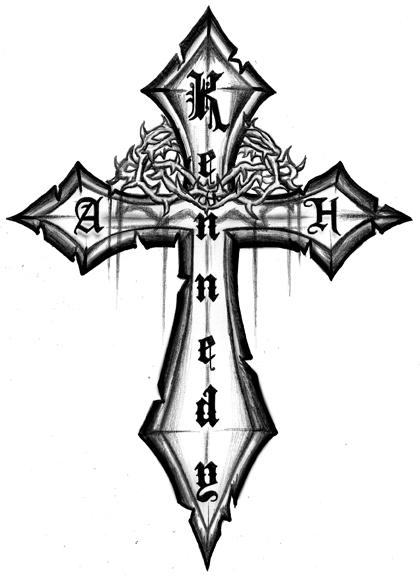 420x576 Red Cross Tattoo Design