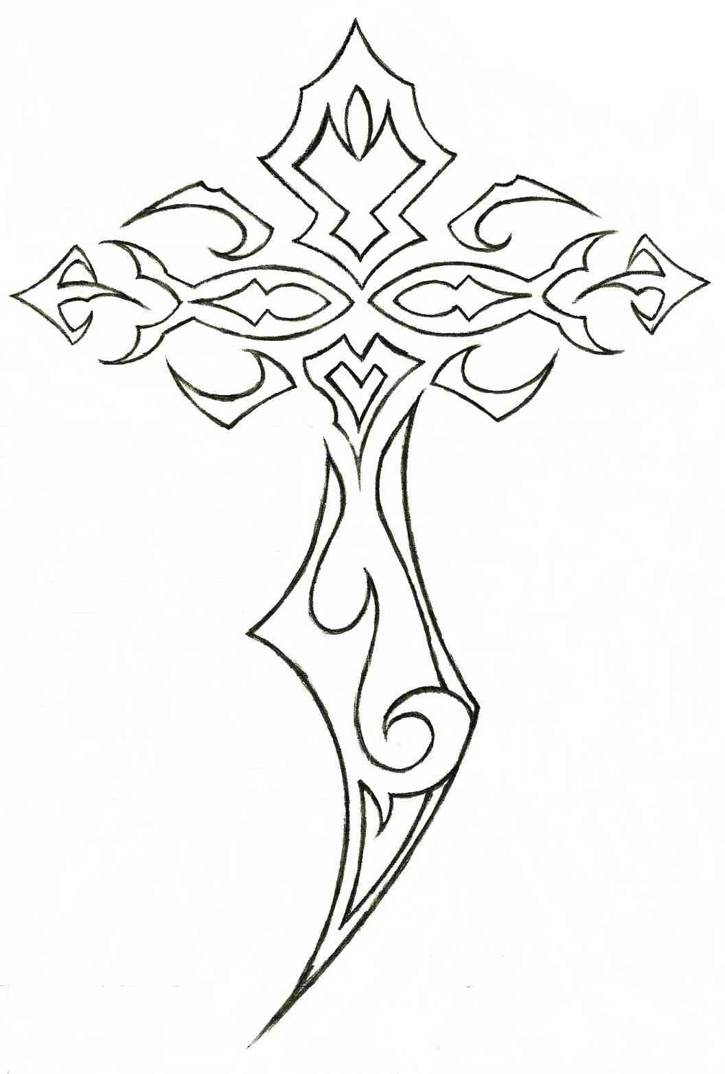 1056x1563 Cross With Crown Of Thorns Clipart 15, Cross With Crown Of Thorns