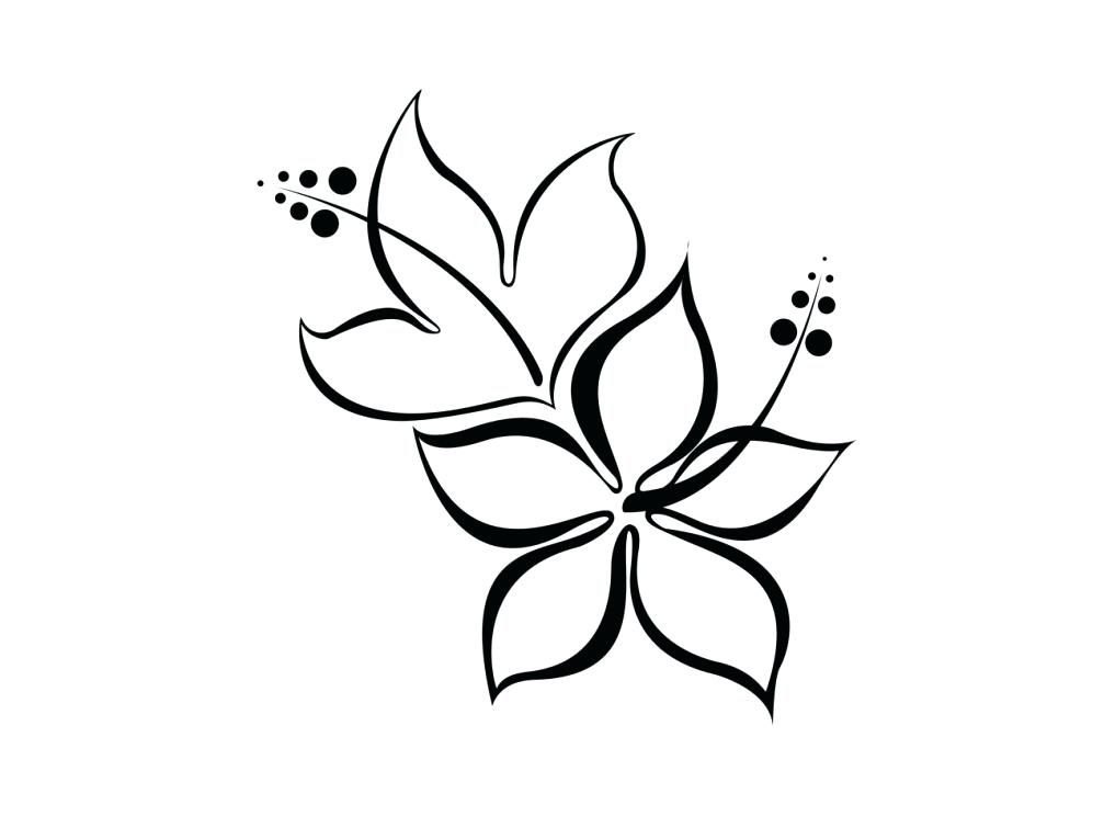 1007x755 Extraordinary Designs Black And White Flower Tattoos Drawings