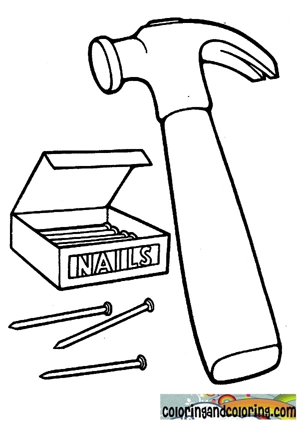595x842 Hammer Coloring Pages