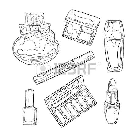 450x450 Cosmetics And Women's Clothes. Perfume, Eye Shadow, Nail Polish