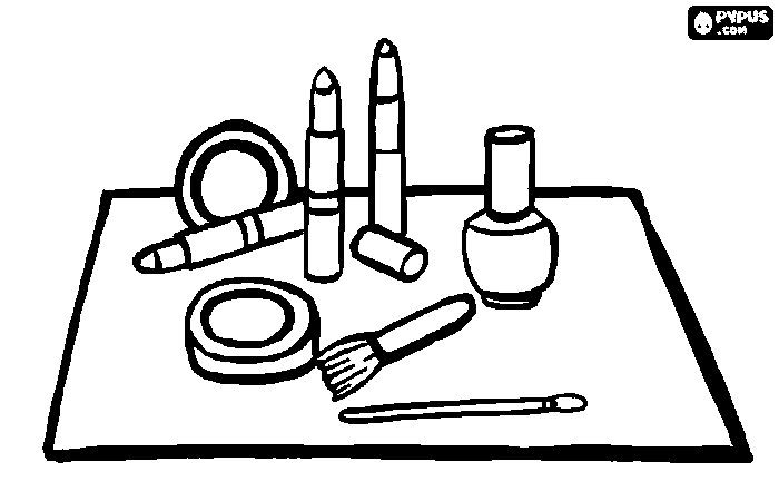 spilled nail polish coloring pages - photo#1