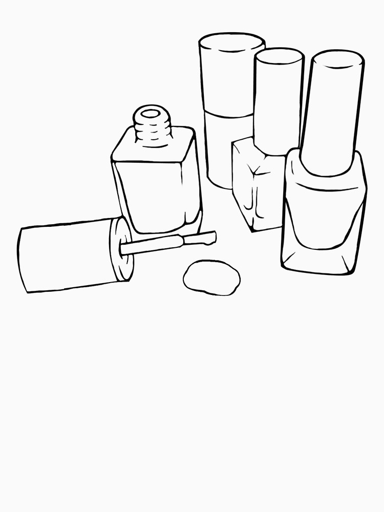 750x1000 Nail Polish Bottle Outline Drawing Unisex T Shirt By Pennee