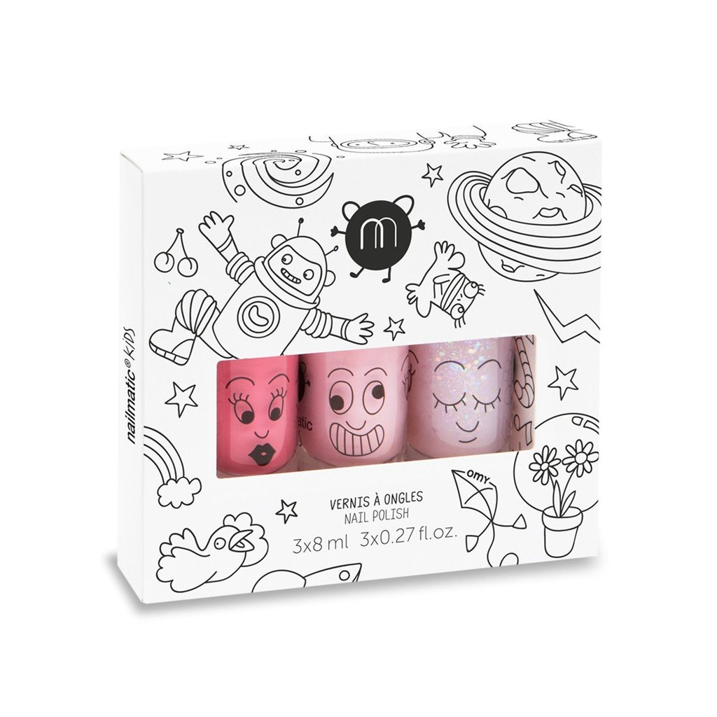 1024x1024 Nailmatic Kids Nail Polish Set Of 3 Cosmos Shop Merci Milo