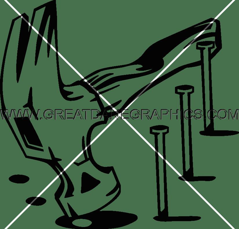825x789 Hammer Amp Nails Production Ready Artwork For T Shirt Printing