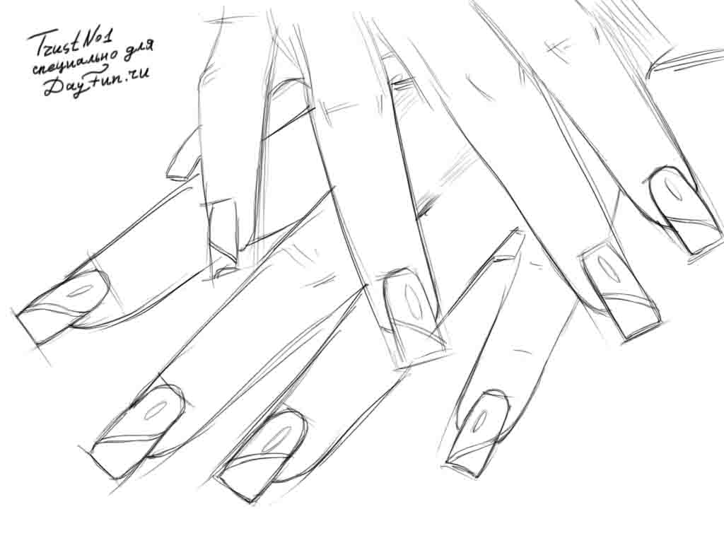 1024x768 How To Draw Nails