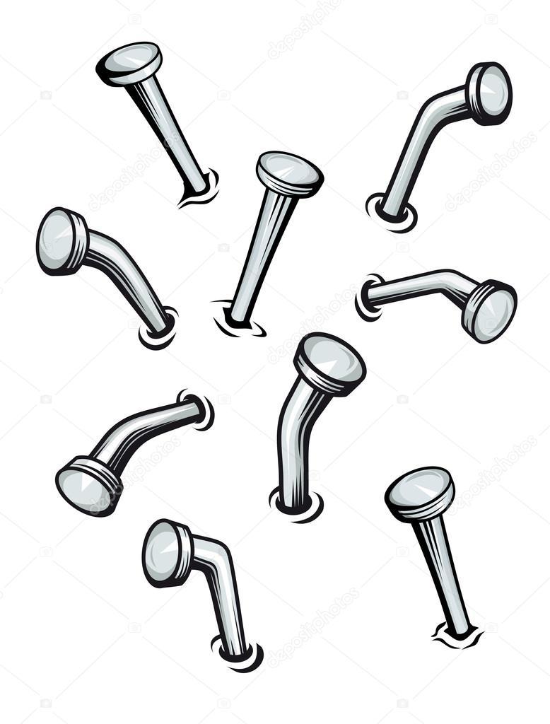 778x1024 Set Of Cartoon Nails Stock Vector Seamartini