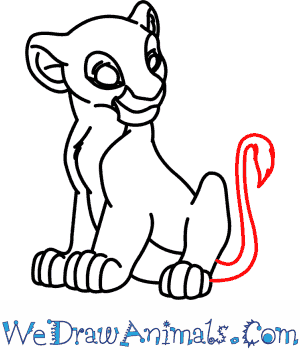 300x350 How To Draw Nala From The Lion King