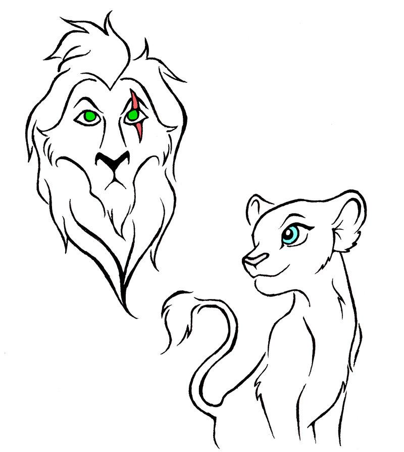 800x895 Lion King Tattoo Designs By Kattfloka