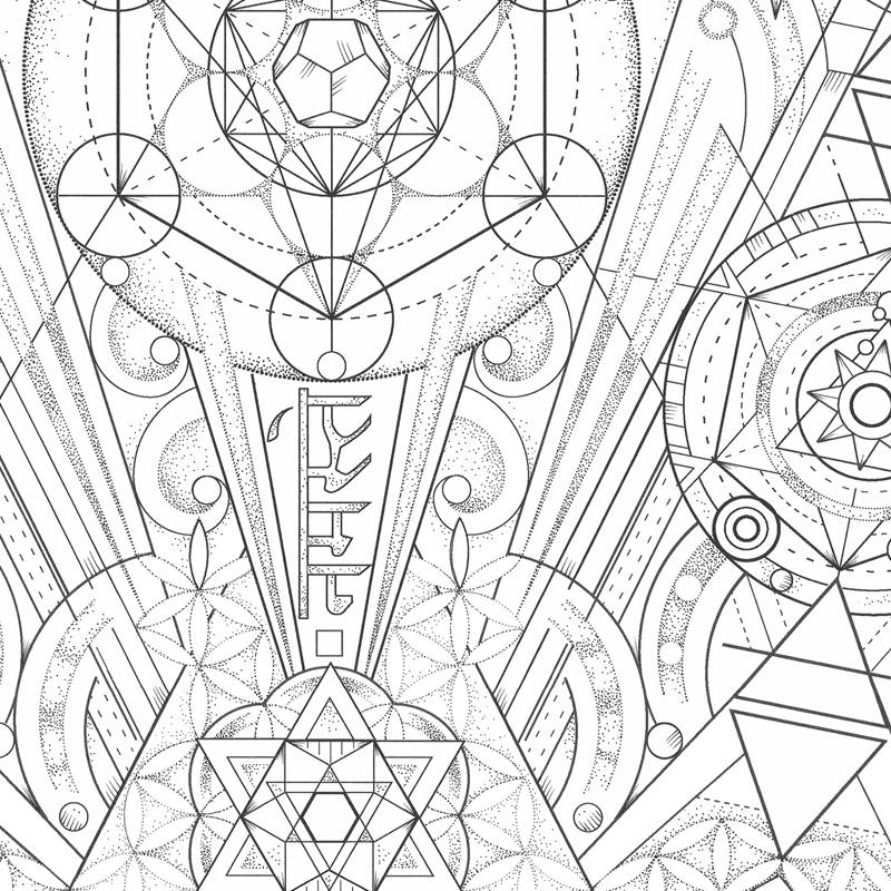 800x800 Punctured Artefact Custom Tattoo Leather Design. Geometric Ink