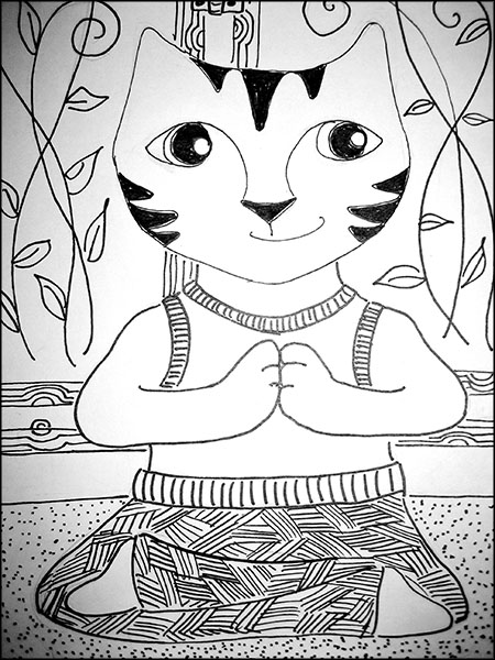 450x600 What A Cat! Namaste. The Crafty Sisters