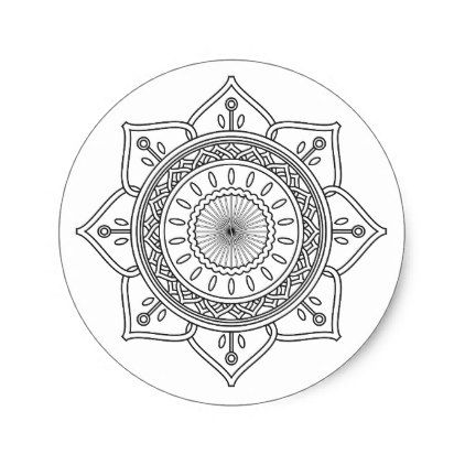 422x422 Classic Mandala Classic Round Sticker