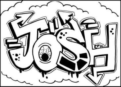 421x304 Learn To Draw Graffiti Names Josh. Just Click On Free Drawing