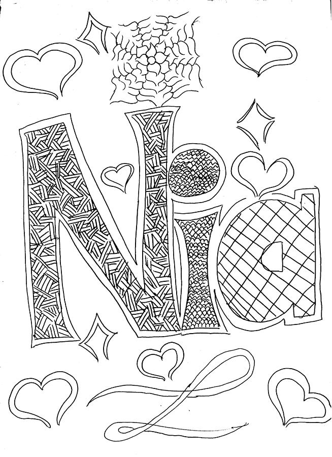 654x900 Name Nia Drawing By Nia Holden