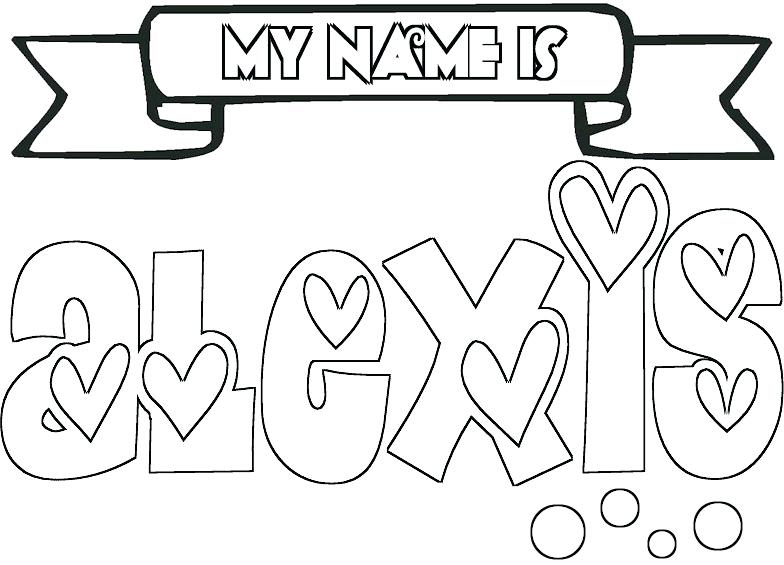 784x565 Printable Name Coloring Pages