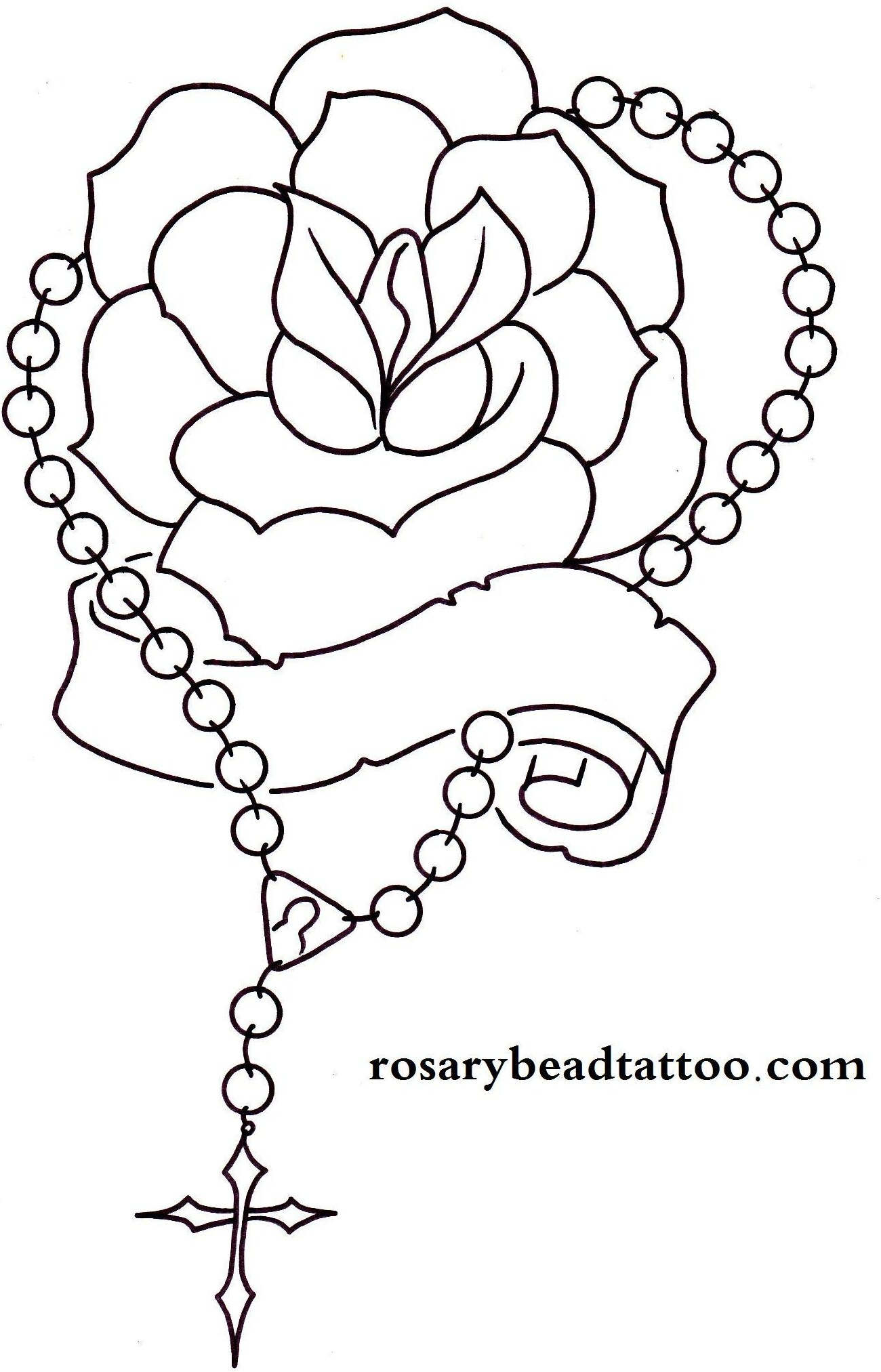 1300x2025 Rosary Drawings Rose Tattoo,banner Tattoo,rosary Tattoo,name