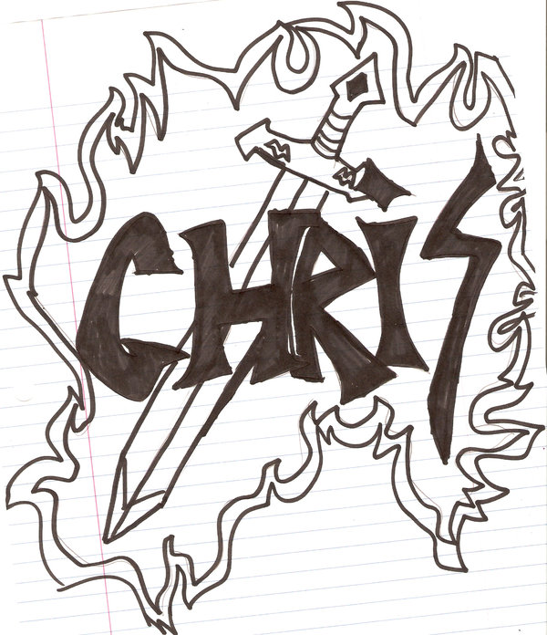 600x696 Sword With Name Chris By Swordmasterg