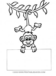 222x300 Gsmists Monkey Hanging By Its Tail Coloring Sheet. Cute Idea