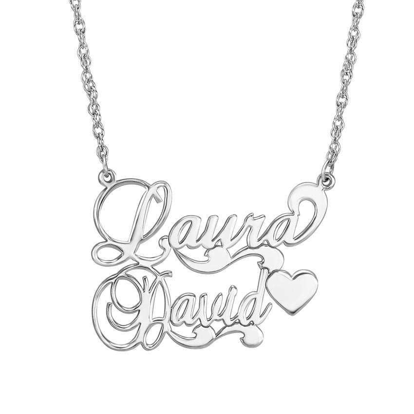 850x850 Couples Nameplate Necklace