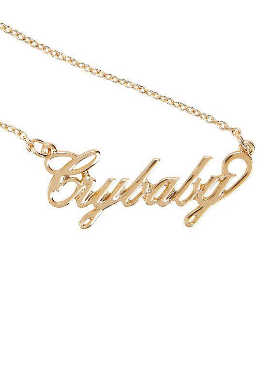 564x761 Melanie Martinez Crybaby Nameplate Necklace Melanie Martinez