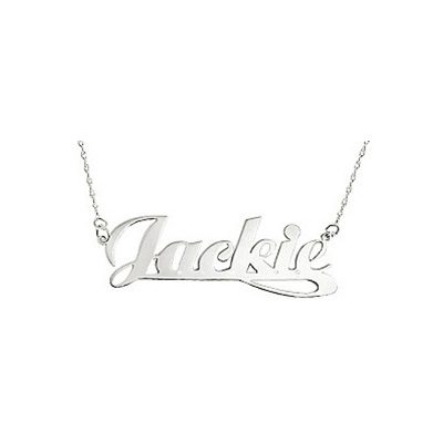 400x400 Name Necklace With Jackie Written In Script Letter Style