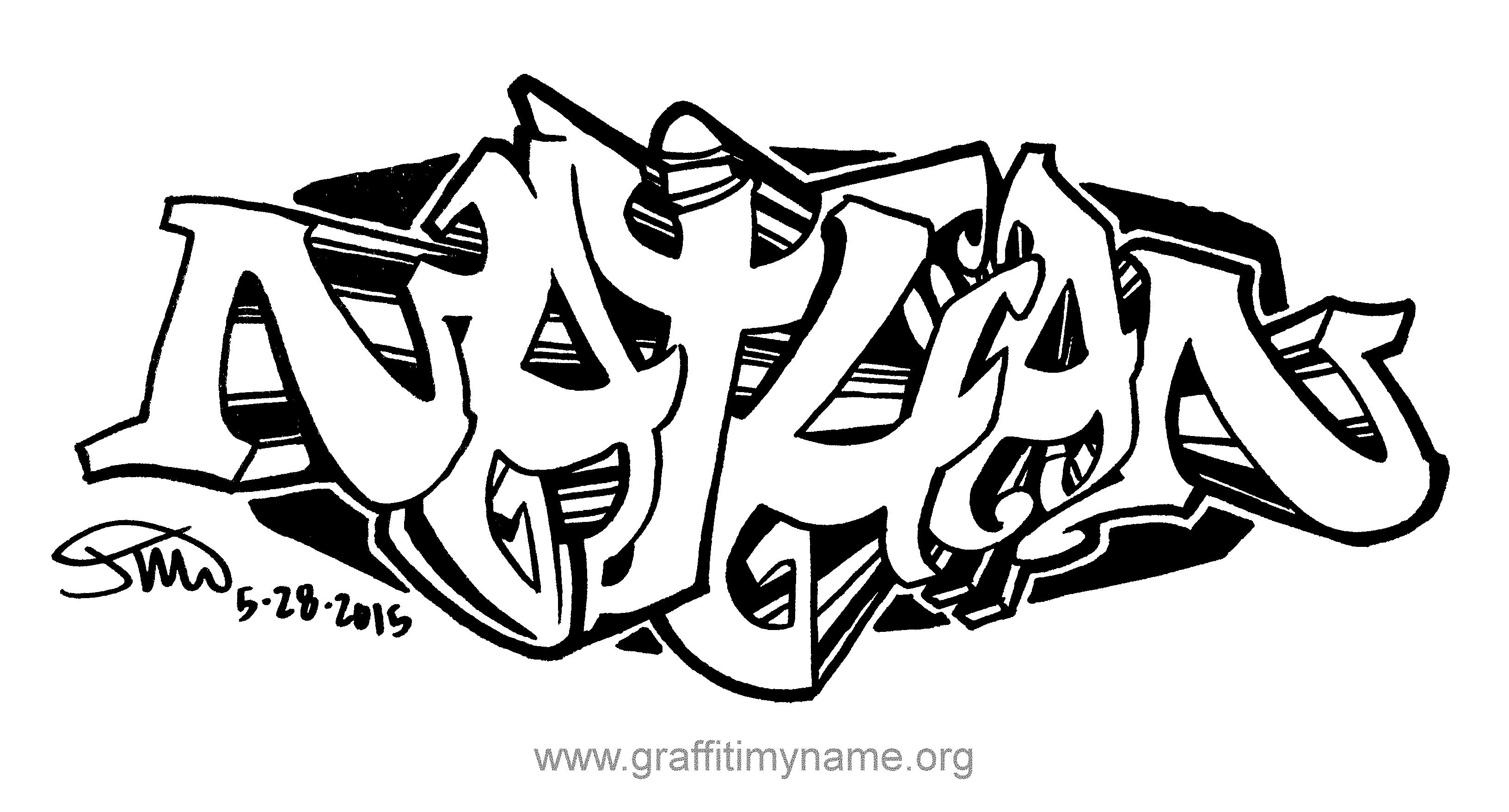 3264x1758 Graffiti Names Drawing Nathan