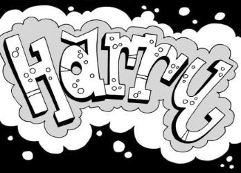 348x250 Learn How To Draw Graffiti Name Harry Crafts