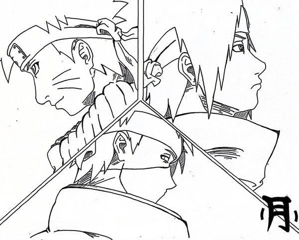 600x483 Naruto Sasuke Kakashi By Jinsama