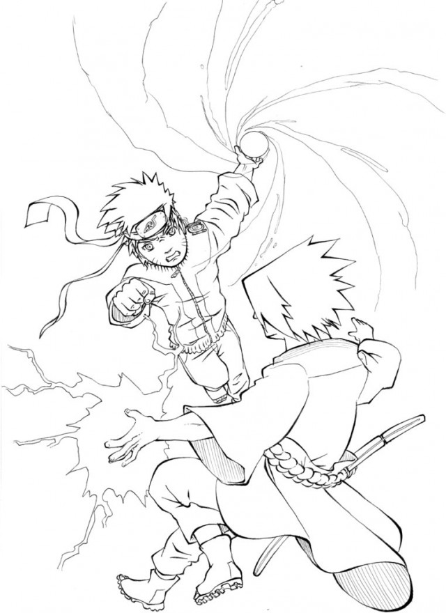 640x880 Naruto Vs Sasuke Coloring Pages Naruto Vs Sasuke Coloring Pages