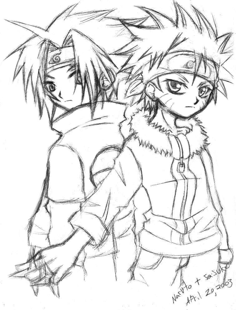 756x994 Naruto And Sasuke Poo Sketch By Hellsingfan