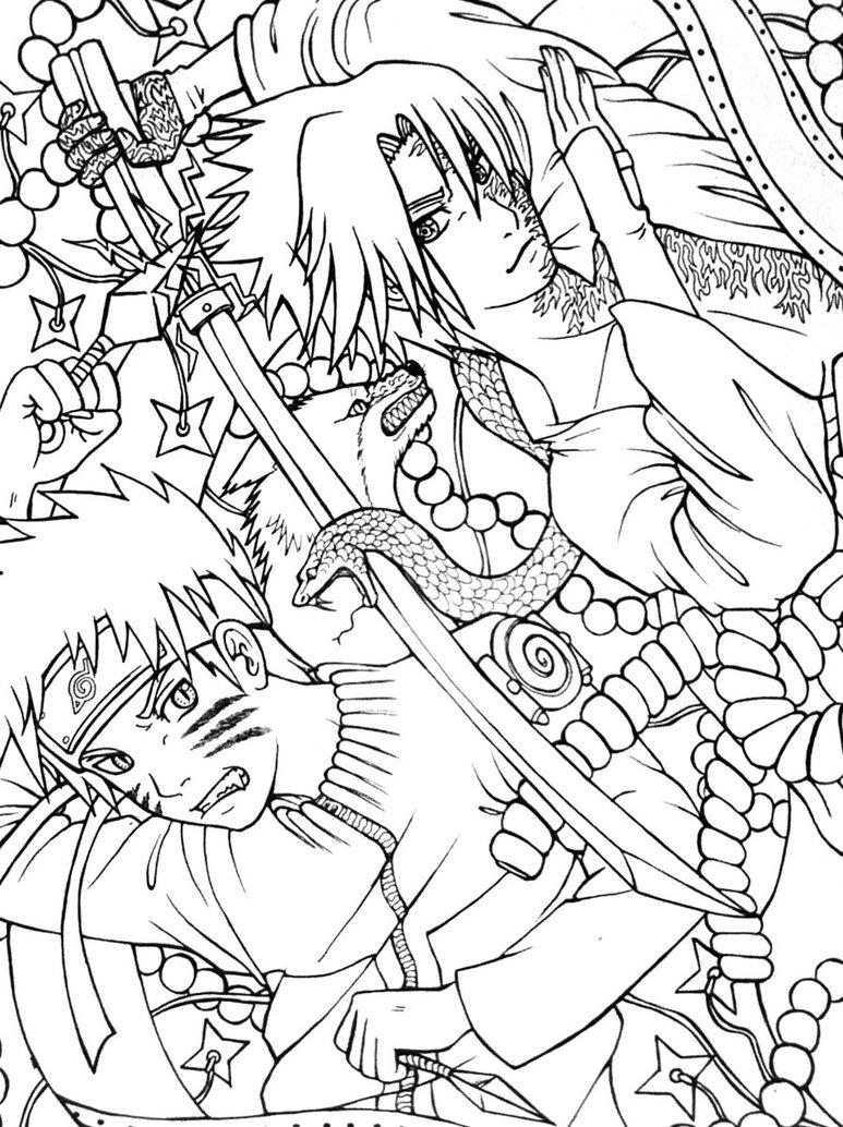 773x1034 Naruto Vs Sasuke By Clover31