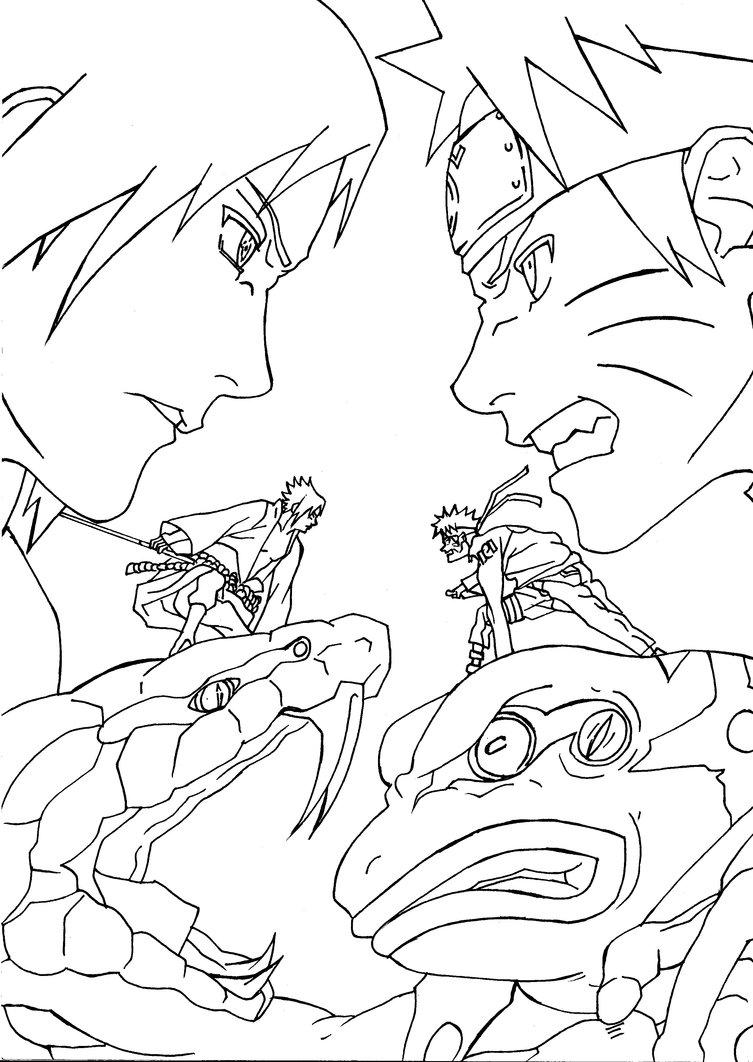 753x1062 Naruto Vs Sasuke 1 By Gerrypro