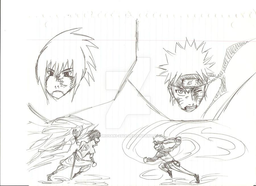 900x654 Naruto Vs. Sasuke Clash By Kurosaki 2346